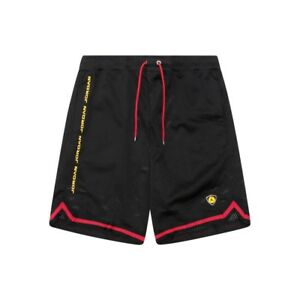7cd6105ca01536 NIKE AIR JORDAN 14 LAST SHOT MESH BASKETBALL SHORTS RED BLACK AQ0624 ...