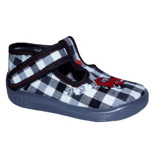 Baby jóvenes zapatillas de casa zapatos infantiles guardería plantilla de cuero negro blanco