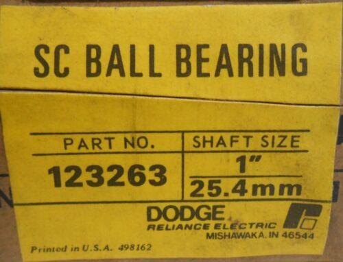 "SC BALL BEARING 123263 SC-1 B BEARING INSERT RELIANCE DODGE 1/"" BORE"