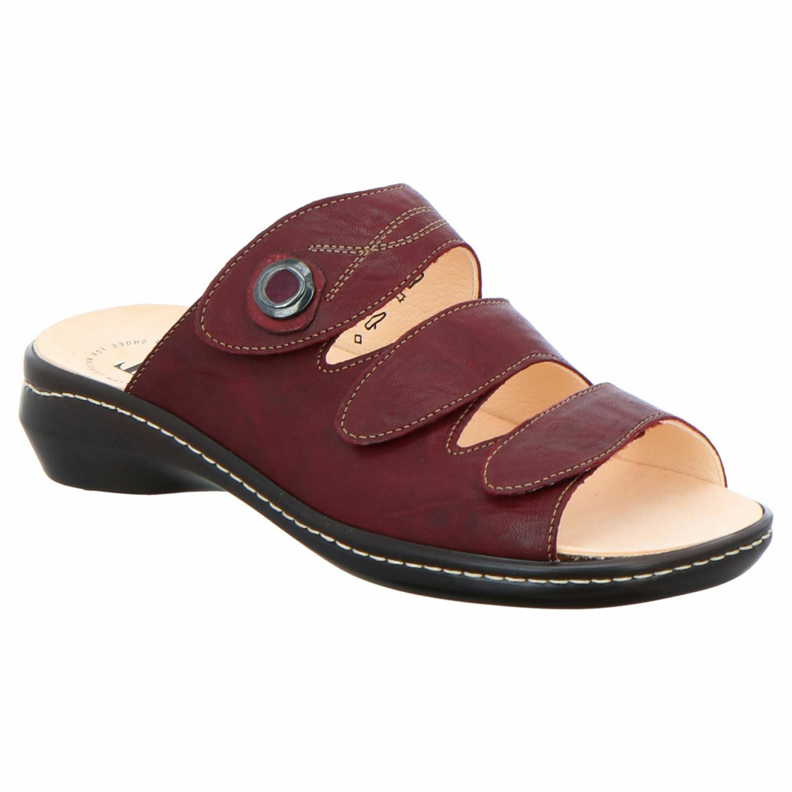 Think Camilla 88424 rot damen Leather Open-Back 3-Strap Slide Sandals