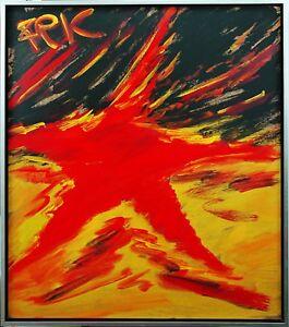 Felix-Pfefferkorn-1945-Potatoland-what-a-star-Acrylgemalde-Ausstellung-Politik