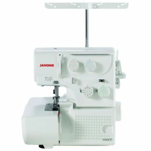 Portable Serger Overlock Machine W// Free Bonus 3 /& 4 Thread Janome 8002D