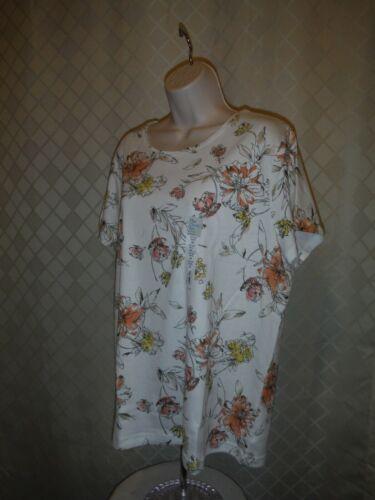 100/% cotton Multi Color Short Sleeve Women/'s T-Shirts XXL,XL,L,M,Croft /& Barrow