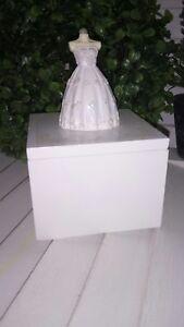 Actif Petite Boîte à Bijoux Boîte à Bijoux Bijoux Buste Blanc 8x8x12cm Shabby Chic