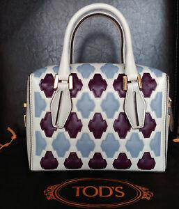 1d7e65eba7d TOD'S Women's 'Mini D-Cube – Bauletto' Small Bowler Bag, MSRP ...