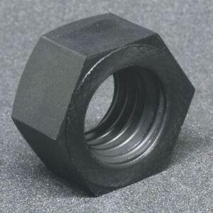 "3/8""-16 Black Nylon Coat Finish Machine Screw Hex Nuts, 10 pk."