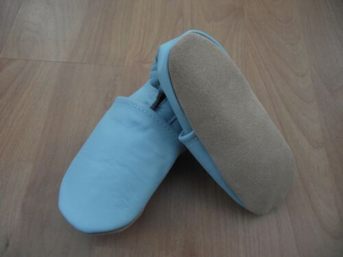 Baby Boy/'s Superior Soft Real Leather Pram First Shoes 6 m 24 m Plain blue