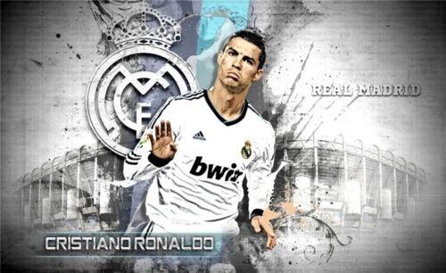 "Cristiano Ronaldo CR7 Football Star Art Wall Poster 21x13""  CR10"