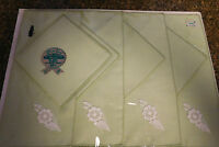 Vintage Gloria Gray 8 Piece Placemat Set - Light Green