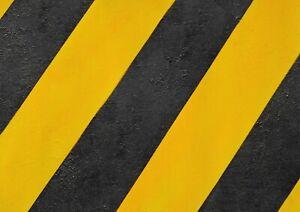 A1-Black-Yellow-Hazard-Tape-Poster-Art-Print-60-x-90cm-180gsm-Cool-Gift-14616