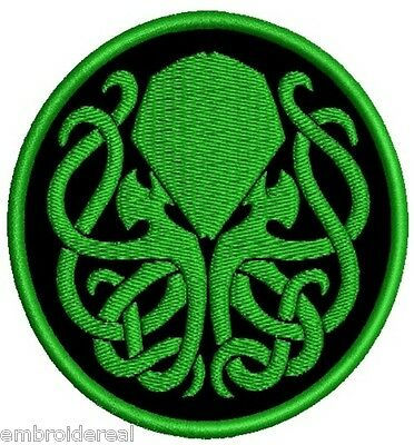 CTHULHU EMBROIDERED PATCH SYMBOL MYTH R'Lyeh horror H.P LOVECRAFT Metal Negro