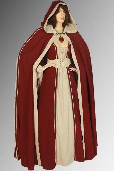 Medieval Renaissance Costume Cape Cloak Cotton