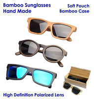 Bamboo Wooden Sunglasses,polarized Lens,fashion Retro Cool Hot,with Bamboo Case