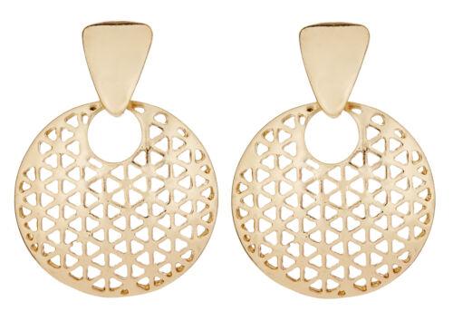 Pendientes de clip-chapado en oro de lujo con forma de gota cubiertos-Asia G