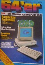 64er (64´er) 01/86 Januar 1986 C 64 Commodore (C128D, 1571, Monitore, Spiele)