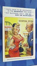 Bamforth Comic Postcard 1950s Blonde Large Boobs HOSPITAL VACCINATION Theme