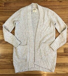 Details about Hollister Sweater Womens Size Small Open Cardigan Sweater With Pockets