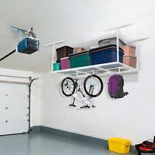 FLEXIMOUNTS 3x6' Heavy Duty Overhead Garage RacK Adjustable Ceiling Storage Rack