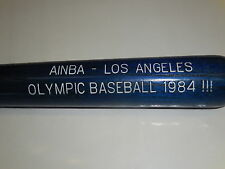 Wood Louisville Slugger125-Memorial gadget Bat-Los Angeles-Olimpic Baseball 1984