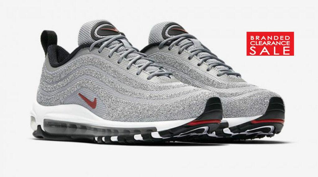 BNIB New Nike Air Max 97 LX Swarovski Bullet Silver Silver Silver Size 5 6 uk with receipt d66d72