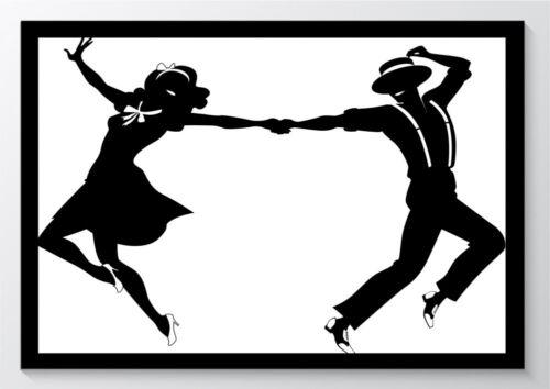 Tanzen Paar Rock´n Roll Kunstdruck Poster ungerahmt Bild DIN A4 A3 K0573