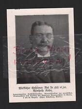 1914 Portrait Wirkl. Geheimer Rat Dr. phil. et jur. Reinhold Koser WWI