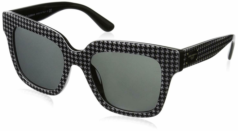 DOLCE&GABBANA DG4286F Square Black/White Sunglasses
