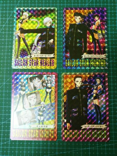 FAN CARD SAILOR MOON PART 2 SUPER BATTLE MOVIE DARK LADY 4 PRISM CARDS FULL SET