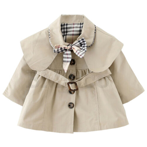 Toddle Baby Girl/'s Kid/'s Trench Coat Bowknot Outerwear Long Sleeve Wind Jacket