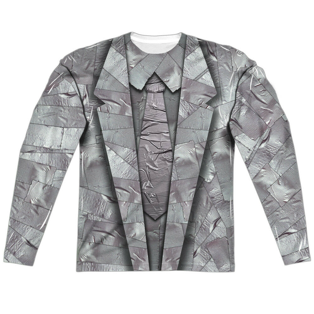 DUCT TAPE SUIT Print 2-Sided Men's L S T-Shirt Easy Halloween Costume S-3XL