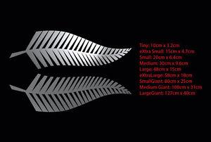 Silver Fern Pair New Zealand Symbol Car Boat Decal Sticker