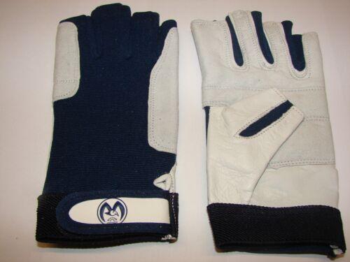 XL neu S 1 Paar Segelhandschuhe Leder Handschuhe 5 Finger frei  Gr