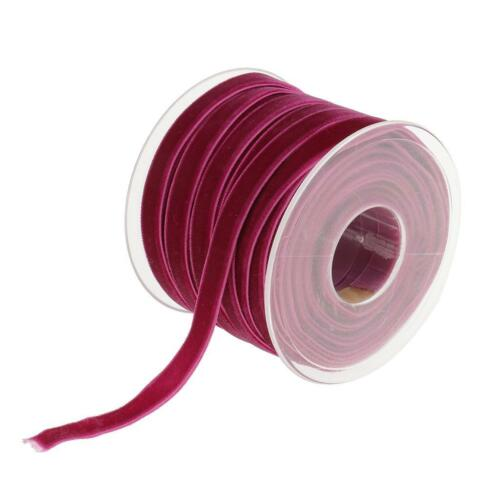 20 Yards VELVET RIBBON 10mm Wide For Craft Decoration Embellishments