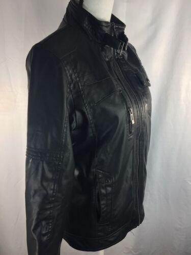 Biker Læderjakke Of Zip Minstray Fashion Up Long S Sleeve Women Black ApnIqP