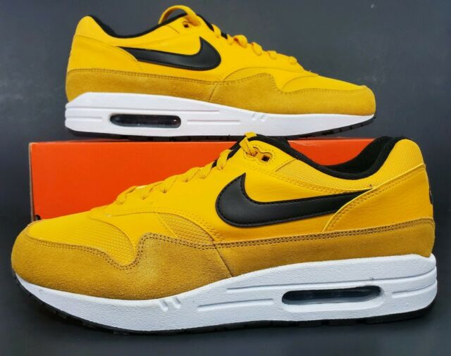 Nike Air Max 1 Am1 Premium Leather University Gold Yellow White Bv1254 700 Sz 11