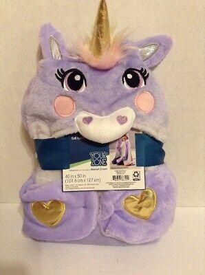 "Hooded Unicorn Horse /& Mermaid Throw Blanket 40/"" x 50/"" Your Zone 2"