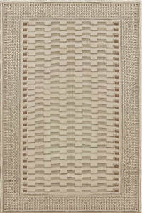Needle Point Handmade Wool Rug By Arthur Dunnam In Beige And Green N12005 Ebay