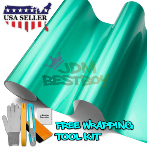 *Premium Teal High Gloss Metallic Glossy Sticker Decal Vinyl Wrap Air Release