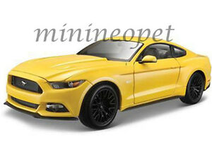 Maisto 31197 2015 15 Ford Mustang GT 5 0 1 18 Diecast Model Car Yellow ...