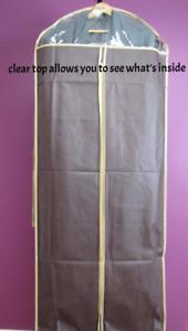 """3pcs Garment Bags 58"""" for Dress/Gown/Lon"""
