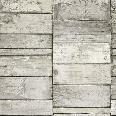 NEW GRANDECO IDECO WOOD BLOCK FAUX EFFECT REALISTIC PATTERN WALLPAPER A10501