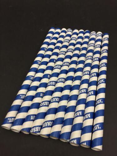 Trinkhalme Papier Cocktail Bar Strohhalme NEU NEW 100x ABSOLUT Vodka Straws