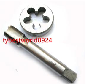 New1pc HSS M16 X 1mm Plug Right Tap and 1pc M16 X 1.0mm Right Die Threading Tool