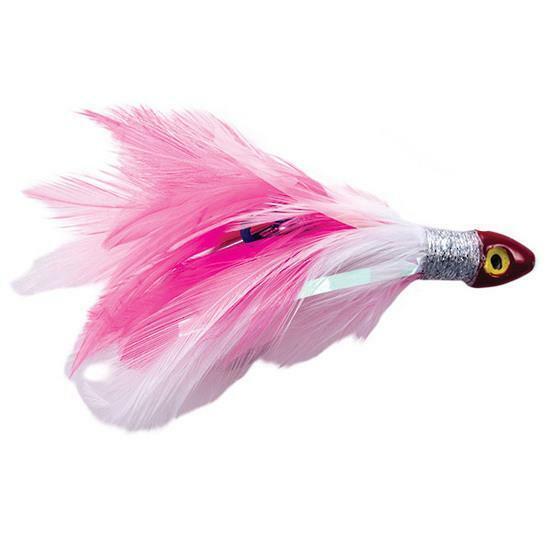 Black Magic Saltwater Chicken Rigged Tuna Skirt - Pink / White SCHICKPWD