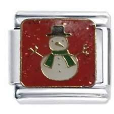 CHRISTMAS SNOWMAN - Daisy Charm by JSC Italian Charms fit classic size bracelet