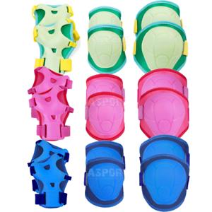 Kinder Inlineskating Schutzausrüstung Schonerset Schoner BUFFER blau Spokey
