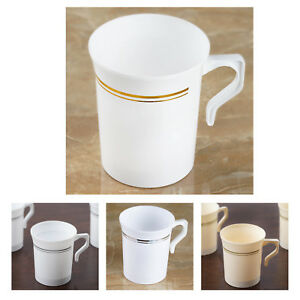 Image Is Loading 40 Pcs 8oz Disposable Plastic Coffee Cups For