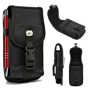For Motorola Moto G6 /G6 Plus Heavy Duty Buckle Nylon Pouch Belt Clip Holster