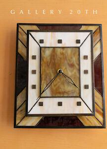 MID-CENTURY-MODERN-SLAG-GLASS-BRUTALIST-CLOCK-AFTER-HERMAN-MILLER-KNOLL-VTG