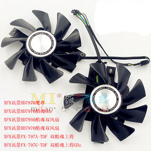 Details about 1 pair XFX Radeon Sapphire HD7950 HD7970 VAPOR-X Dual Fan  FD9015U12S with metab
